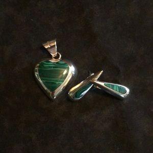 Sterling sliver pendant and earrings